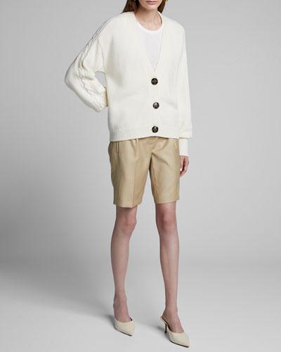 Wool-Cashmere Boxy Cardigan