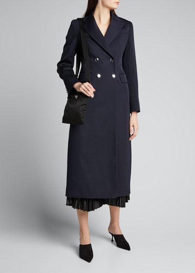 Gabardine Double-Breasted Coat