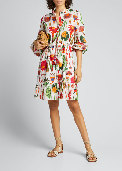 Shaina Floral Print Shirtdress