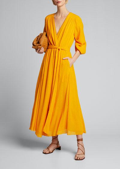 Demeter Crepe Wrap Dress