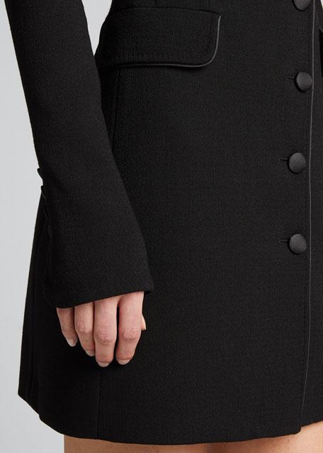 Off-the-Shoulder Crepe Dress