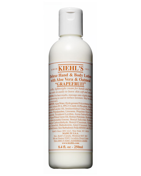 Image 1 of 1: Grapefruit Deluxe Hand & Body Lotion with Aloe Vera & Oatmeal, 8.4 fl. oz.