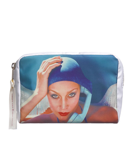 Image 1 of 1: Limited Edition Jerry Hall 'On Call' Makeup Bag - Charlotte Tilbury x Norman Parkinson Collection