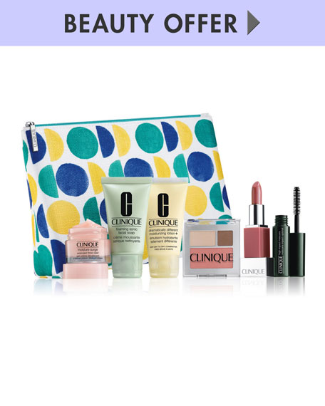 Receive a free 6-piece bonus gift with your $50 Clinique purchase