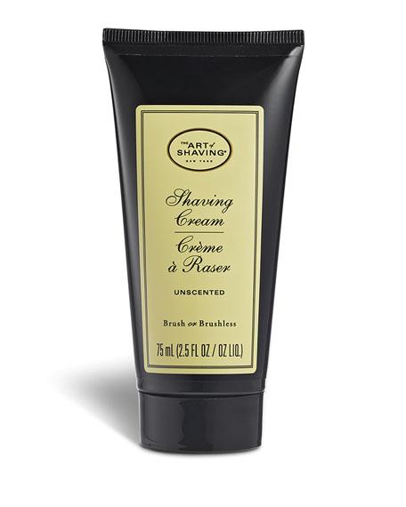 Unscented Shaving Cream Tube, 2.5 oz./ 74 mL