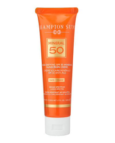 Age-Defying Mineral Crème Sunscreen for FACE SPF 50