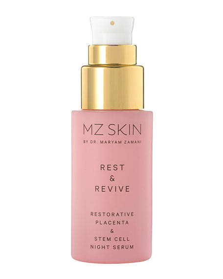 Rest and Revive Restorative Placenta and Stem Cell Night Serum, 0.1 oz.