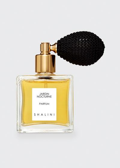 Jardin Nocturne Cubique Glass Bottle with Black Bulb Atomizer  1.7 oz./ 50 mL