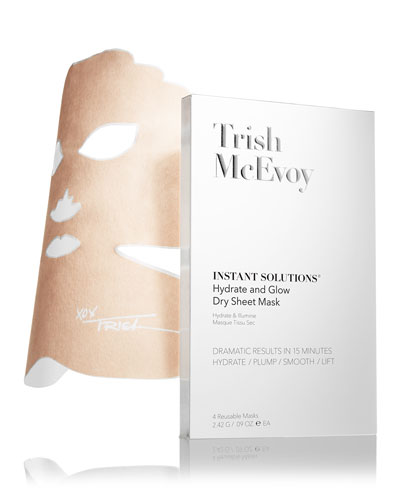 Instant Solutions Hydrate & Glow Dry Sheet Mask  4 Pack