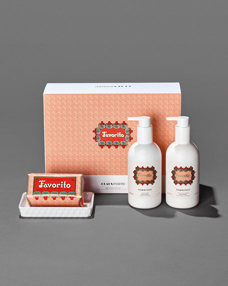 Exclusive FAVORITO Liquid Soap+Body Moisturizer+Soap Gift Set