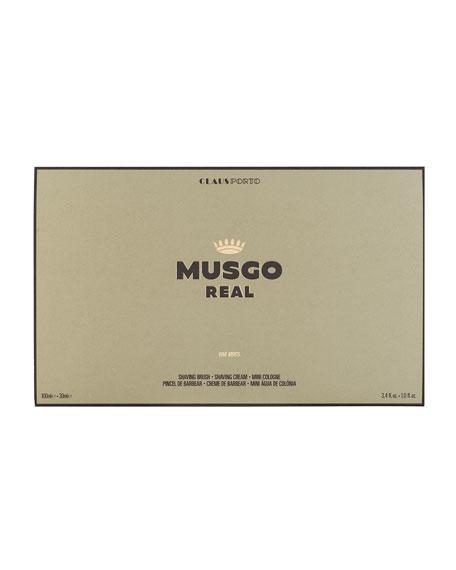 Oak Moss Mini Cologne, Shaving Cream and Brush Set
