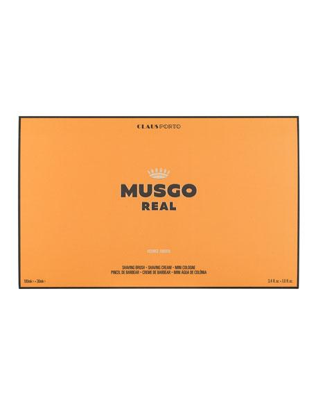 Orange Amber Mini Cologne, Shaving Cream and Brush Set