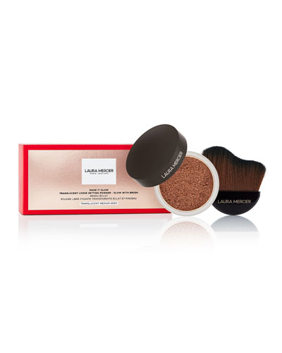 Make it GlowTranslucent Loose Setting Powder - Glow with Brush