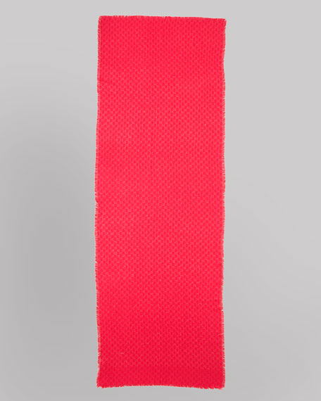Caililure Shimmer GG Logo Stole, Magenta/Red