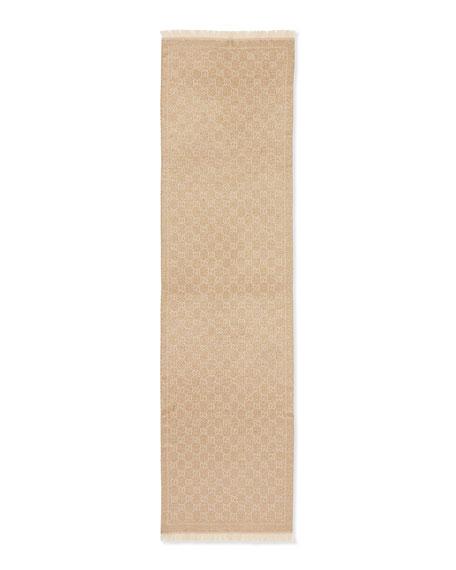 Shimmer Stencil Scarf, Gold
