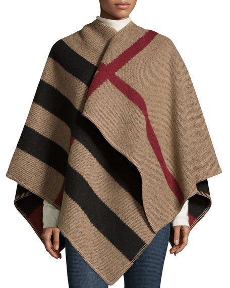 Burberry Mega Check Cape, House Check/Black