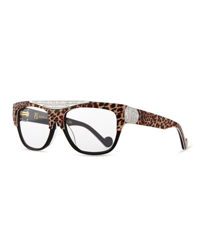 Beyond Glistening Fashion Glasses, Golden Leopard