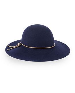 Wide-Brim Snake-Chain Hat