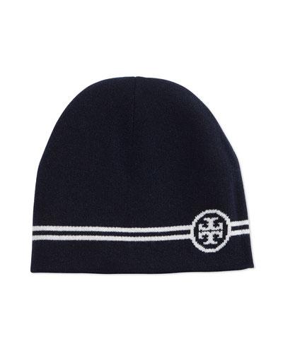 Reversible Wool Beanie Hat