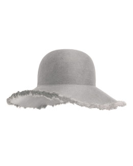 Blake Floppy Hat w/Fur Trim