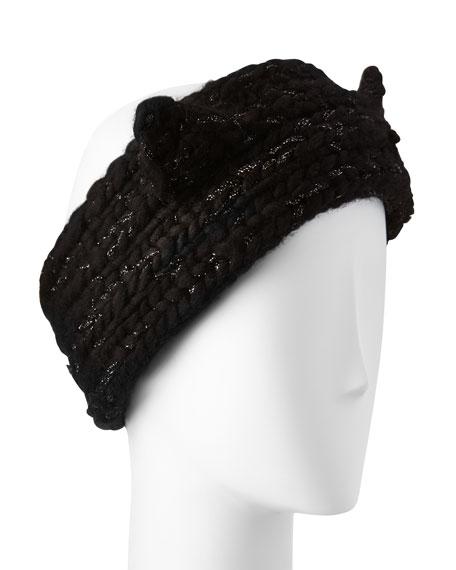 765128469 Kat Hand-Knit Headband w/Cat Ears