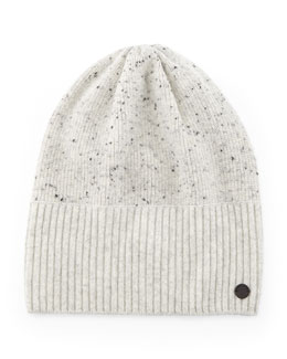 Catherine Speckled Knit Cashmere Beanie