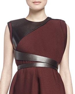 Leather Harness Belt, Dark Brown