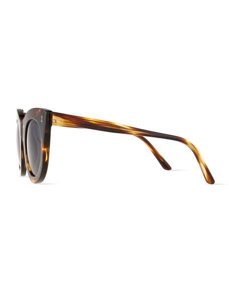 Boca Round Plastic Sunglasses