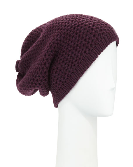 Cashmere Slouchy Hat w/Button
