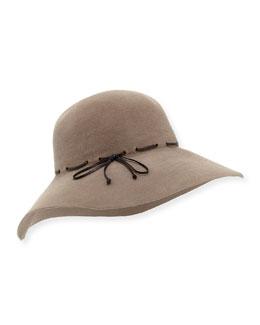 Rabbit Felt Large-Brim Hat