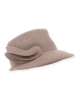 Leaf Felted Wool Hat