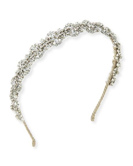 Natalia Crystal Flower Headband