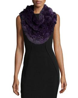 Fur Knit Ruffle Shawl