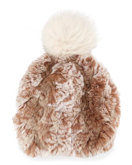 Knitted Fur Pom-Pom Hat