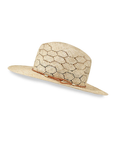 Straw Wide-Brim Sun Hat, Natural