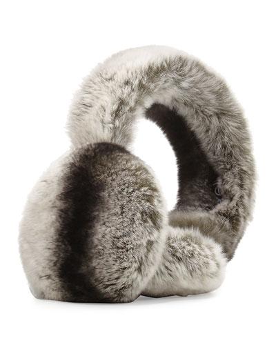 Rabbit Fur Earmuffs, Chinchilla