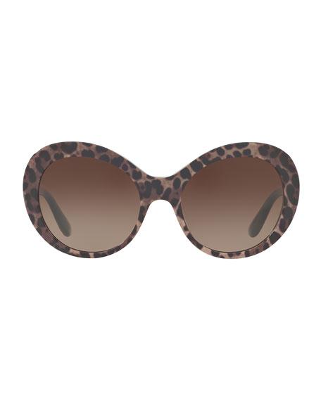 Chunky Gradient Round Sunglasses