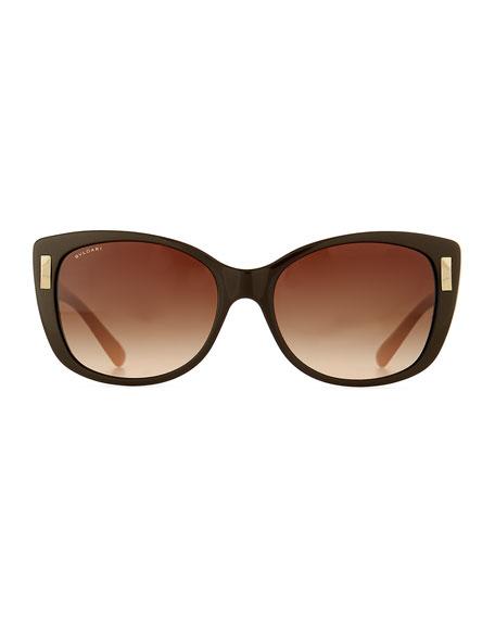 Square Gradient Two-Tone Sunglasses