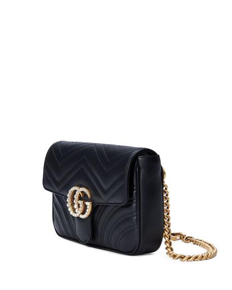 GG Marmont Matelassé Flap Belt Bag