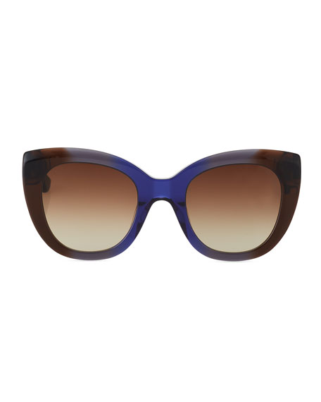 Mercer Cat-Eye Acetate Sunglasses