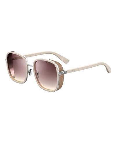 Elvas Mirrored Square Sunglasses