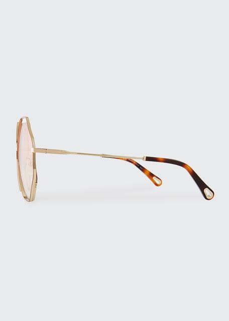 db76f10d7b9 Chloe Poppy Geometric Sunglasses
