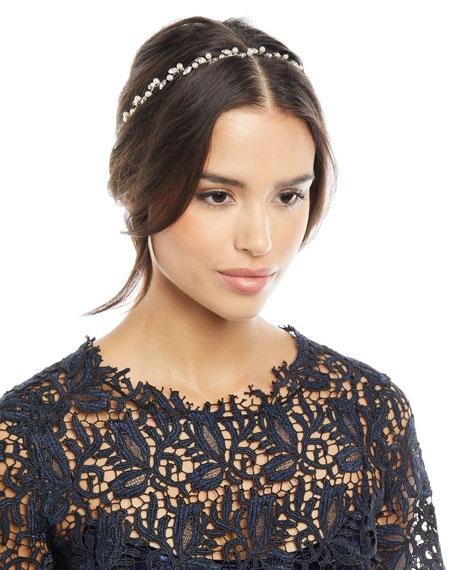Lina Swarovski® Crystal & Pearl Circlet Headband