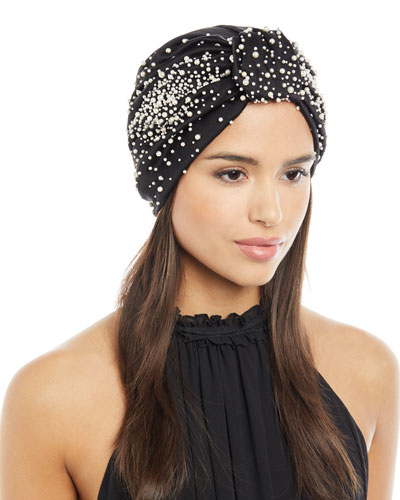 Full Turban w/ Scattered Pearly Beads