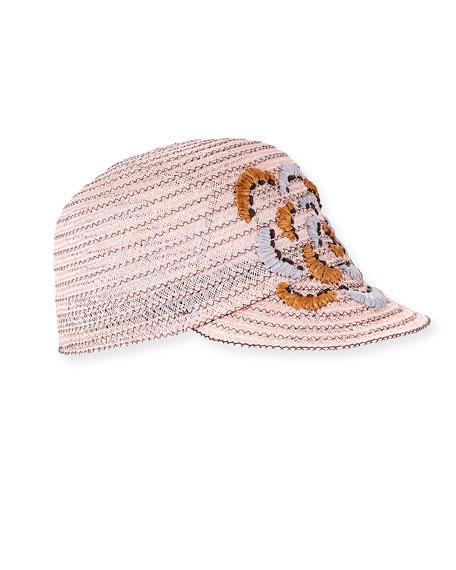 Hemp-Blend Baseball Cap w/ Caterpillar Detail