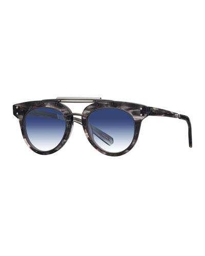 Gradient Acetate Cat-Eye Sunglasses  Blue/Gray