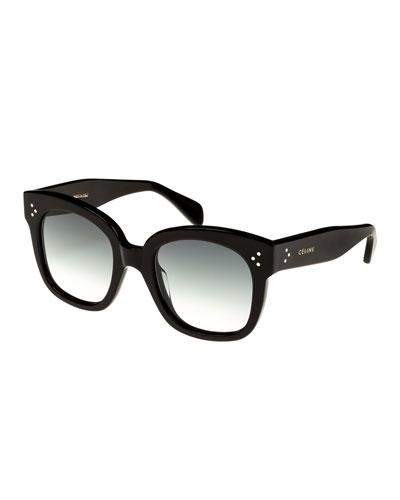 Square Gradient Acetate Sunglasses  Black Pattern