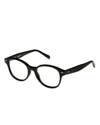 Round Acetate Optical Frames  Black