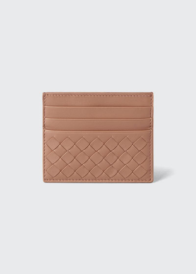Woven Leather Credit Card Case