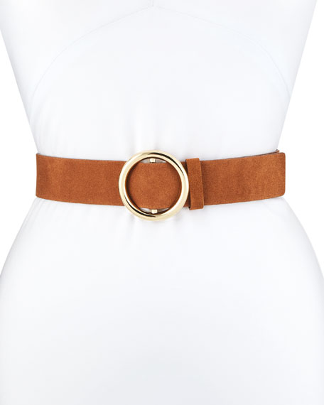 Image 1 of 1: O-Ring Suede Belt